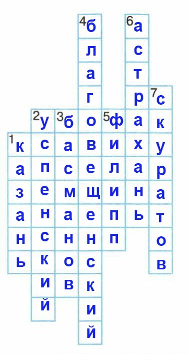 Рабочая тетрадь по истории России. Данилов. 7 класс. Параграф 10
