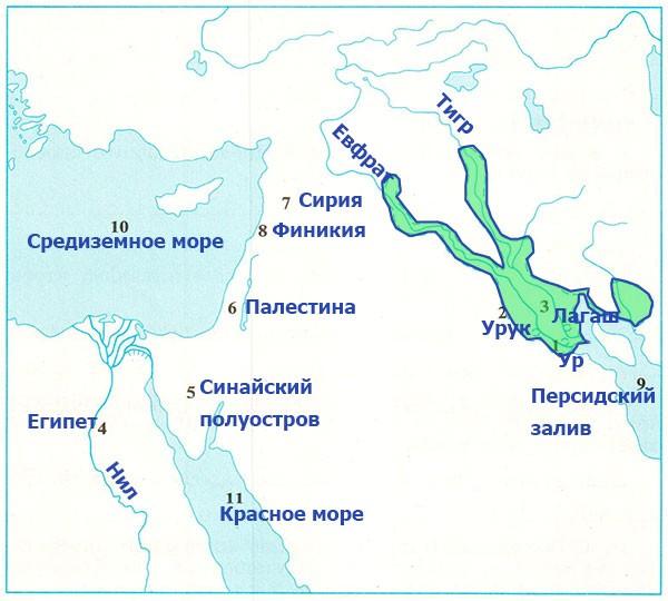 Рабочая тетрадь по всеобщей истории Древнего мира. Годер. 5 класс. 1 часть. Задание 45
